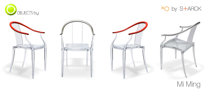Mi ming armchair by philippe starck with xo objects by news for Sedie stark