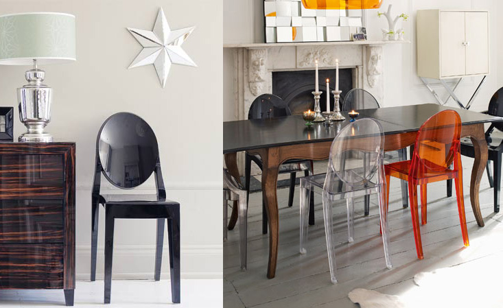 icons of design by starck victoria ghost chair from kartell objects by news. Black Bedroom Furniture Sets. Home Design Ideas
