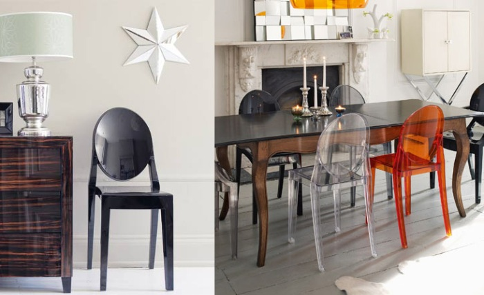 icons of design by starck victoria ghost chair from kartell