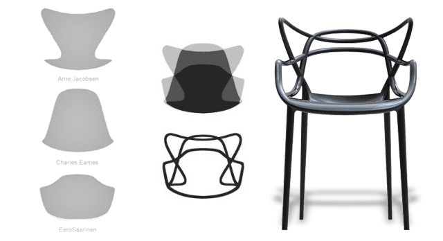 masters chair by philippe starck for kartell brings together the
